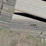 Bad highway construction (Google Maps)