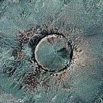 Tenoumer Impact Crater (Google Maps)
