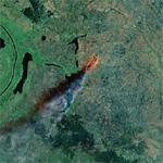 Fire in Sudan (Google Maps)