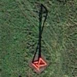 'Double Tetrahedron' by Mark di Suvero (Google Maps)
