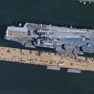 Aircraft Carrier USS Enterprise (CVN-65) (Google Maps)