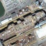 USS George H. W. Bush (CVN-77) under construction (Google Maps)