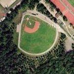 Baseball diamond in Paris (Google Maps)