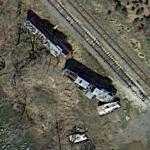 "Train Wreckage from ""The Fugitive"" (Google Maps)"