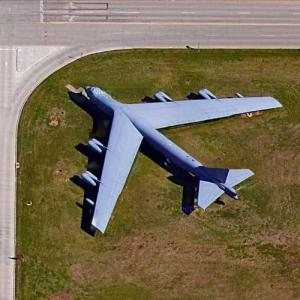 B-52D on static display (Google Maps)