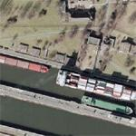 Barges in Kiel Canal