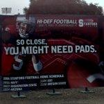 Stanford football billboard