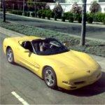 Yellow Corvette (StreetView)