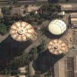 Gasometers in Santiago (Google Maps)