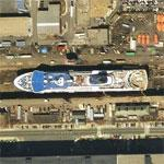 Cruise Ship in Dry Dock (Google Maps)