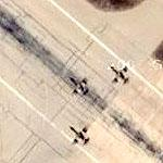 Fighter formation on takeoff roll from Jordanian airbase (1 of 2) (Google Maps)