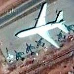 An F-104, Hawker Hunters, Dehaviland Venoms, a DC-10 and other aircraft in Jordan (Google Maps)