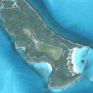 "Johnny Depp's ""Little Hall's Pond Cay"" island (Google Maps)"