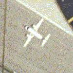 Airplane taking off from St Louis International (Google Maps)