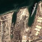 Naval ships being scrapped (Google Maps)