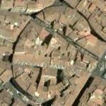 Built over remains of the Amphitheatre of Firenze (Google Maps)