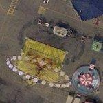 Amusement rides at Belmont Park Racetrack (Google Maps)