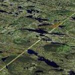 Churchill Falls insanely long hydro corridor (Google Maps)
