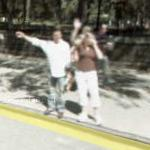 People waving to the Street View camera