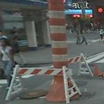 Manhole cover removed (StreetView)