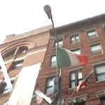 Italian Flag in New York's Little Italy (StreetView)
