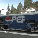 Pepsi Truck - Worker unload bottles