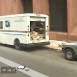 Mailman in his truck (StreetView)