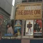 Bilboard movie advertising in Times Square