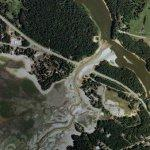 2008-06-09 - Lake Delton empties (Google Maps)