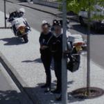 Officers patrolling