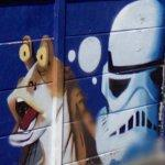 Star Wars graffiti mural