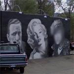 Humphrey Bogart, Marilyn Monroe and Marlon Brando Mural