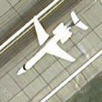 Airplane departing Cleveland (Google Maps)