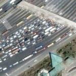 Tollway traffic jam