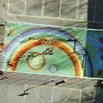 Rainbow mural (Google Maps)