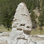 Mammoth Hot Springs - Liberty Cap (StreetView)