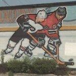 Philadelphia Flyers & New Jersey Devils mural