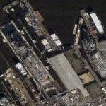 A lot of drydocks (Google Maps)