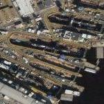 USS Florida Ohio Class Balistic Missile Submarine in drydock (Google Maps)