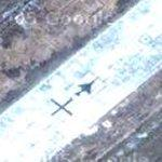 North Korean fighter jet at Kaechon Airfield
