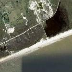 Hurricane Ike dissolves Bolivar Peninsula (Sept 4, 2008) (Google Maps)