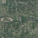 Ford vs. Chevy truck maze (Google Maps)