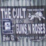 The Cult & Guns N Roses concert poster