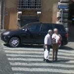Porsche Cayenne (illegal parking on a crosswalk) (StreetView)
