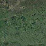 Airplane approaching Denton TX (Google Maps)