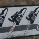 Chain saw graffiti (StreetView)