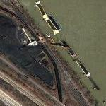 Coal Tipple Filling Barges on the Kanawha River (Google Maps)