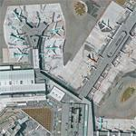 Censored area at Schiphol (Google Maps)