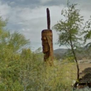 Big Hand-Carved Indian Head (StreetView)