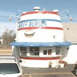 Barrel-shaped building - Beef Burger